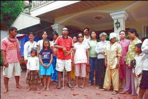 Acid survivors and their children at the CASC Shelter in Phnom Penh
