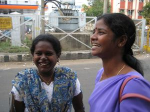Panjali - on the left - the founder of KALKI