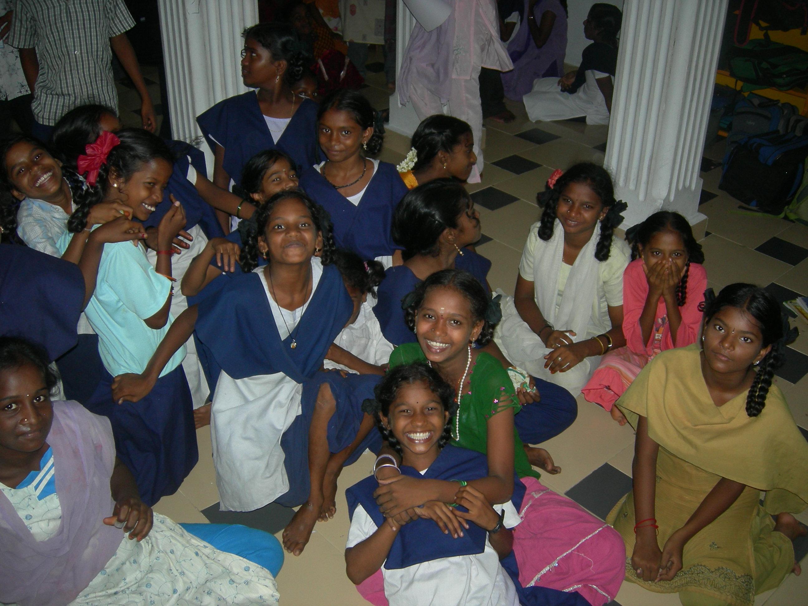 Street girls at KALKI Drop-in Center